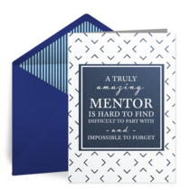 For My Mentor card image