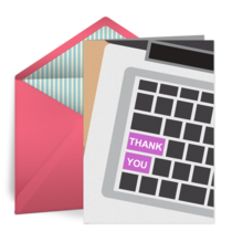 Thank You Keyboard card image