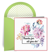 Employee Floral Thanks card image
