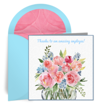 Employee Thanks Bouquet card image