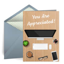 Employee Appreciation Desk card image