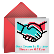 Our Team Is Better With You card image