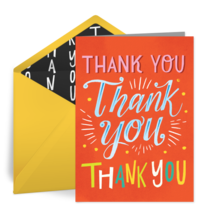 Thank You Thank You card image