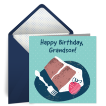 Grandson Birthday card image