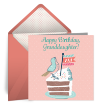 Granddaughter Birthday card image
