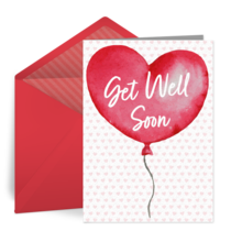 Get Well Balloon card image