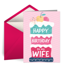 Happy Birthday to My Wife card image