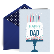 Happy Birthday to Dad card image