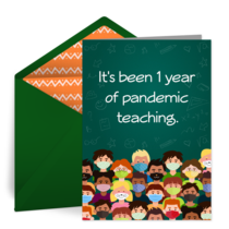 Pandemic Teacher Thanks card image