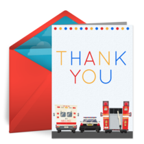 Thanks First Responders card image