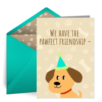 Pawfect Friendship card image