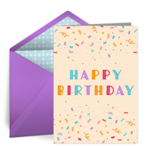 Happy Birthday Confetti Sprinkle card image
