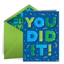 You Did It! card image