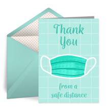 Safe Distance Thank You card image