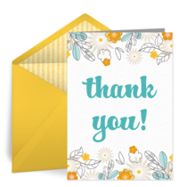 Thanks Flowers card image
