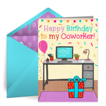 Coworker Birthday card image