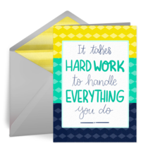 Hard Work card image