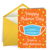 Happy Admin Day From A Safe Distance card image