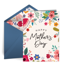 Flowers for Mother's Day card image