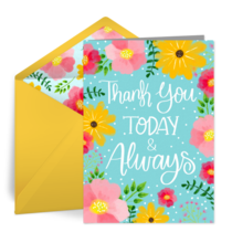 Thank You Today & Always Admin card image