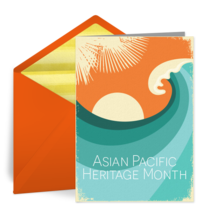Asian Pacific Waves card image