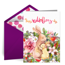 Mother's Day Rabbits card image