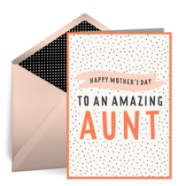 Amazing Aunt card image