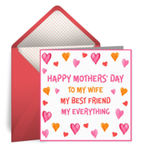 Happy Mother's Day to My Wife card image
