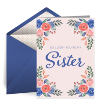 Lucky You're My Sister card image