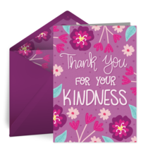 Kindness Thank You card image