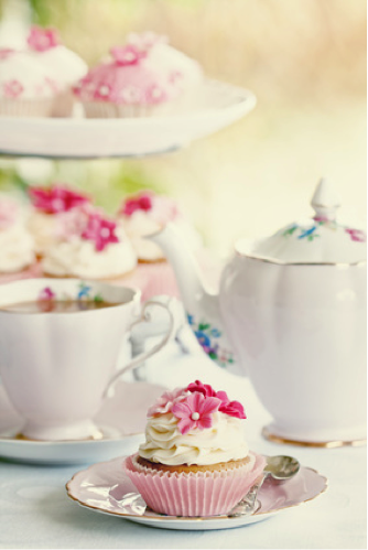 spring party idea tea party