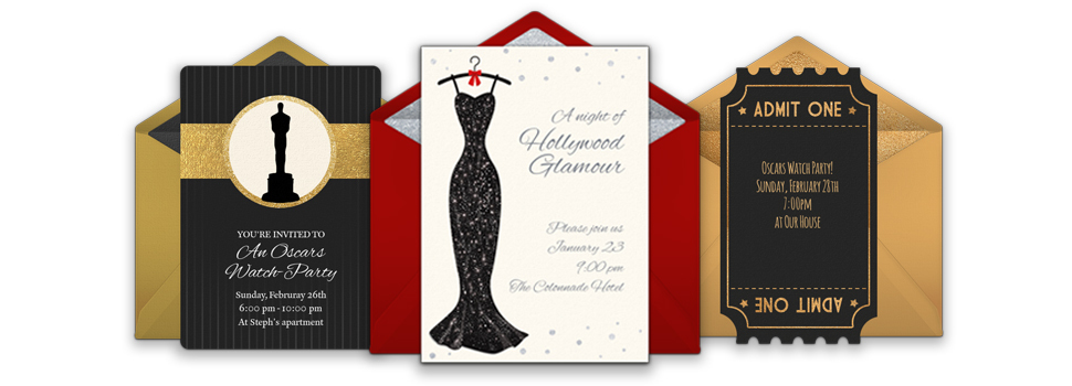 Free Oscars Online Invitations