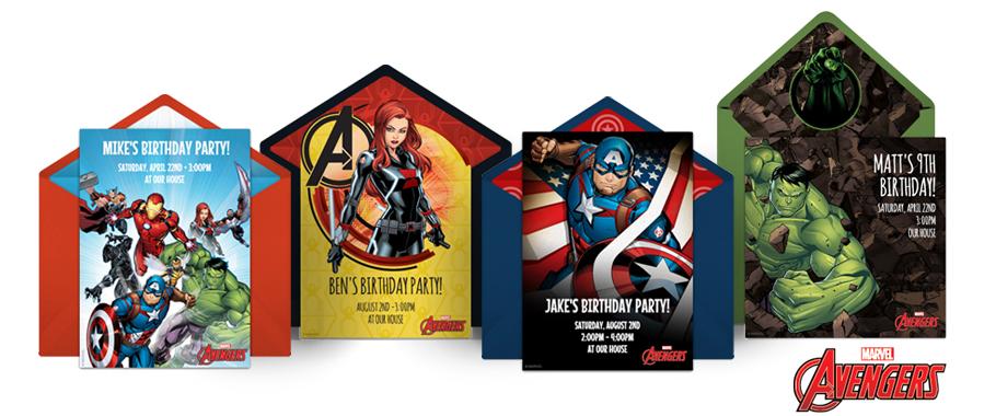 Free Avengers Online Invitations Punchbowl Punchbowl