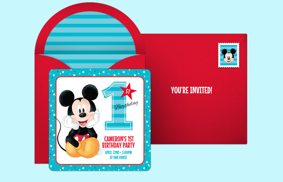 Plan a Mickey Mouse 1st Party!