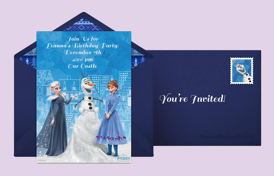 Plan a Olaf's Frozen Adventure Party!
