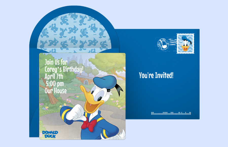 Plan a Donald Duck Party!