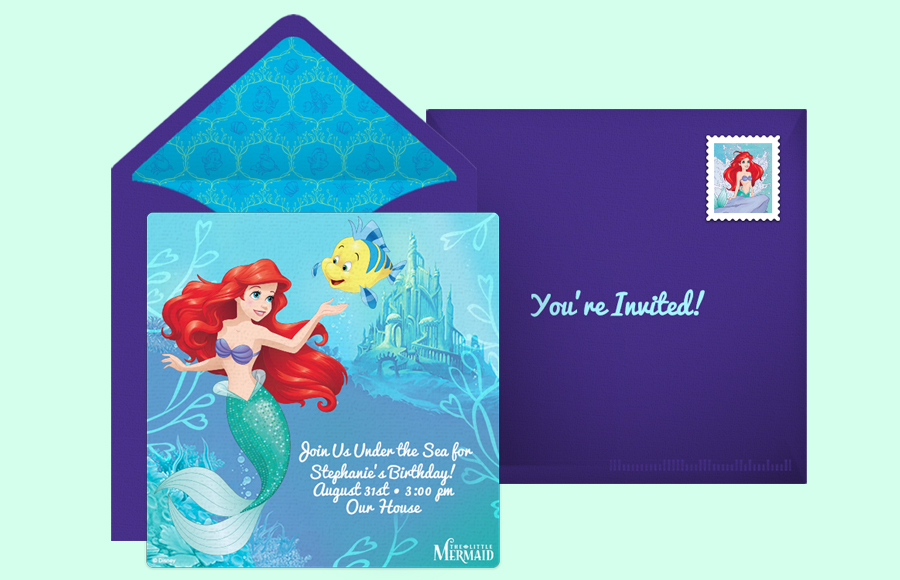 Plan a The Little Mermaid - Ariel & Flounder Party!