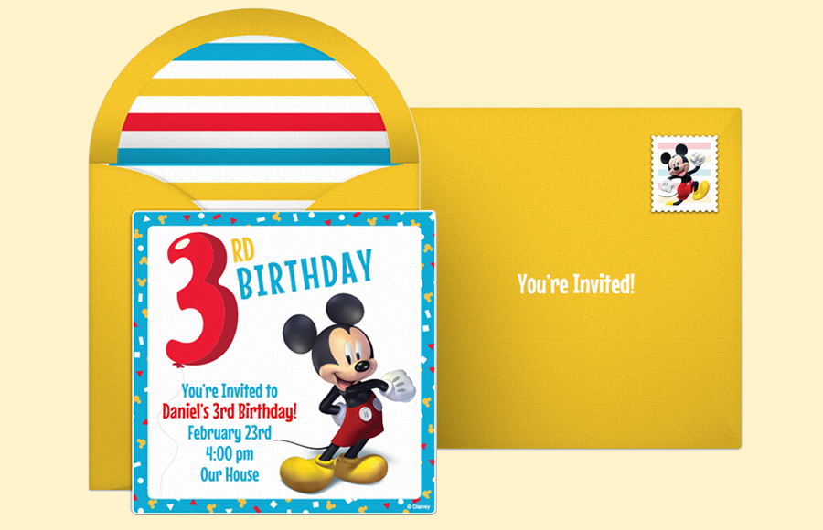 Plan a Mickey 3rd Birthday Party!