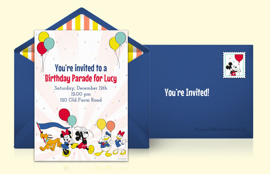 Plan a Disney Birthday Parade Party!