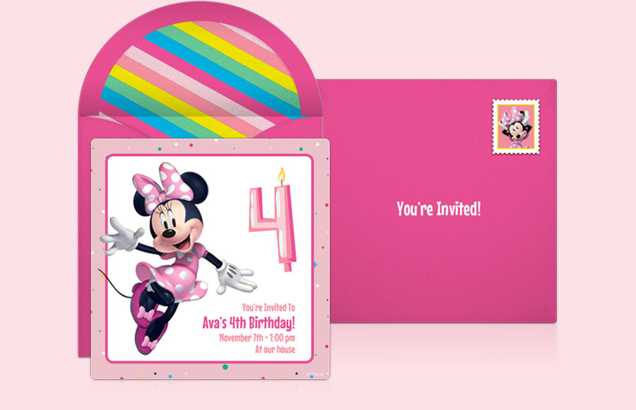 Plan a Minnie 4th Birthday Party!