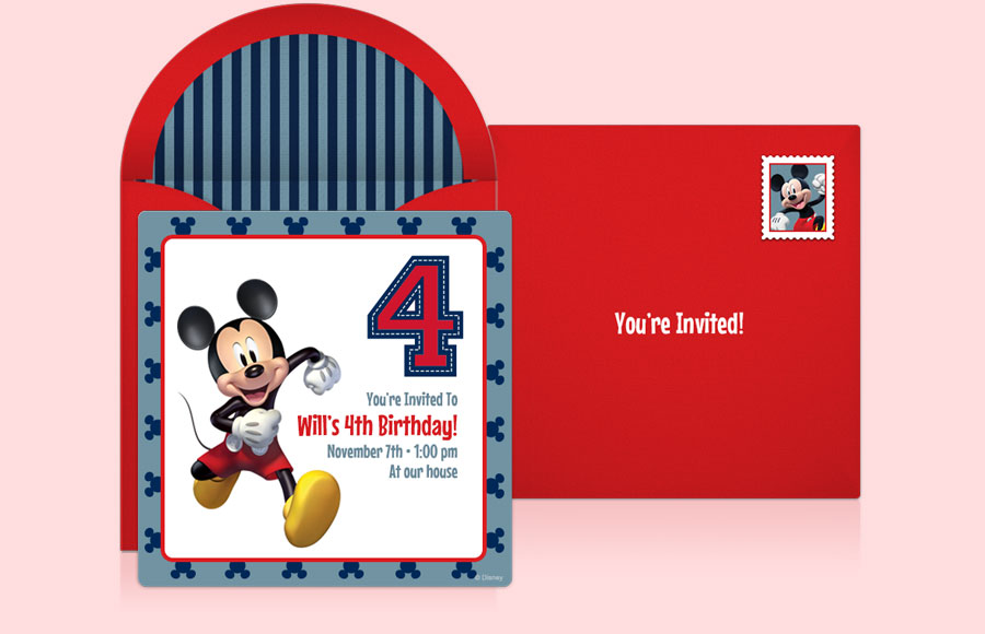 Plan a Mickey 4th Birthday Party!