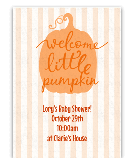 Welcome Little Pumpkin