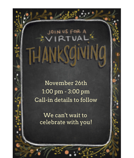 Virtual Thanksgiving Dinner